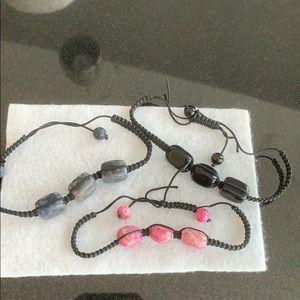 3 stone Bracelets